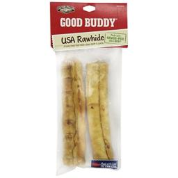 Good Buddy 2 Count Usa Rawhide Sticks Treat For Pets, 7-Inch