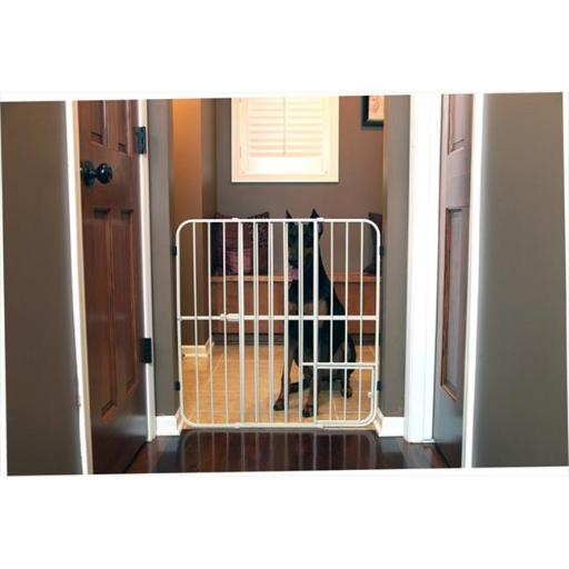 Carlson 0632DS Extra Tall Expandable Metal Pet Gate, Beige
