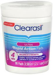 Clearasil Ultra Rapid Action Pads - 90 Ct