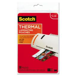 """Laminating Pouches 5 Mil 4.33"""" X 6.33"""" Gloss Clear 20 Per Pack   1 Pack of: 20"""