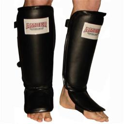 Amber Sports Asp-5705-l Leather Shin & Instep Protector, Large