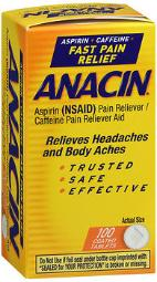 Anacin Aspirin Pain Relief Tablets - 100 Ct, Pack Of 4