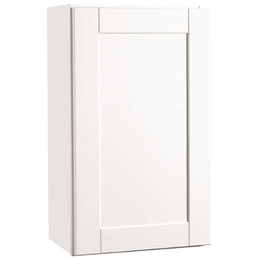 Continental Cabinets Cbkw1830-Ssw Rsi Home Products Andover Shaker Wall Cabinet White 18X30 In.
