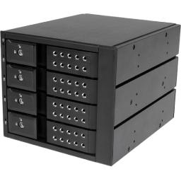 Startech.com hsb4satsasba connect and hot swap four 3.5in sata iii or sas ii hard drives to your computer