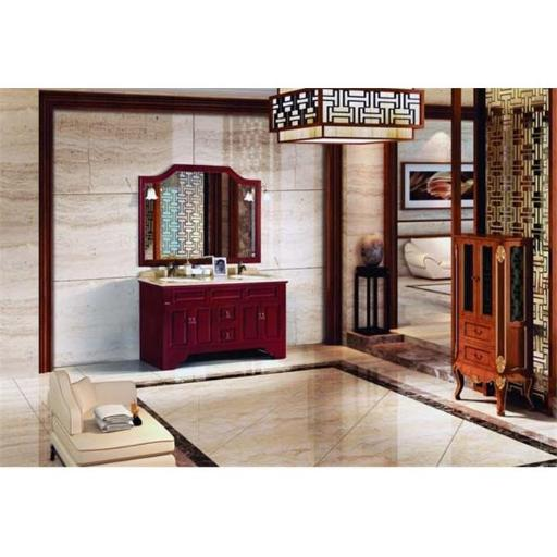 Dawn Kitchen RTC582232-04 Solid Wood And Plywood In Heavy Reddish Brown Finish Wood Stands Cabinet With Two Drawers And Four Doors