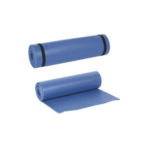 Mil-Spec XPE Foam Camp Mat/Lightweight Sleeping Pad with Straps, Blue