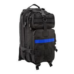 Rothco Thin Blue Line MOLLE Medium Transport Pack Law Enforcement Support, Black