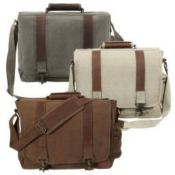 Rothco Vintage Canvas Pathfinder Laptop Bag With Leather Accents 9691