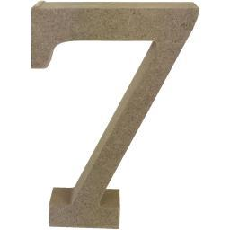 Smooth MDF Blank Shape Serif Number 7