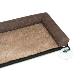 K&h pet products 9090 brown k&h pet products ez mount kitty sill deluxe with bolster brown 12 x 23 x 2.5