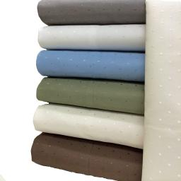 Royal Tradition Woven Dots 600 Thread Count Sheet Sets Full Size White
