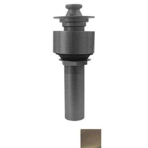 Whitehaus Collection 10.615-BN 2.50 in. Lift and turn drain with a pull-up plug for above mount installation- Brushed Nickel