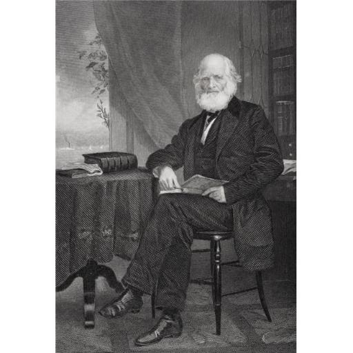 Posterazzi DPI1838878 William Cullen Bryant 1794 1878 American Poet, Writer & for 50 Years Editor of The New York Evening Post From Painting by Alonzo