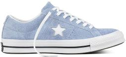 CONVERSE Unisex One Star Ox Sneakers, Blue Chill/White/Black, M 12 / W 14