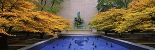 Fountain in a garden, Fountain Of The Great Lakes, Art Institute Of Chicago, Chicago, Cook County, Illinois, USA Poster Print