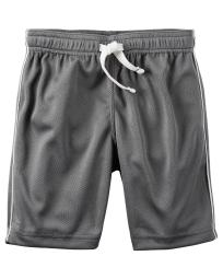 Carter's Baby Boys' Mesh Short, Gray, 24 Months