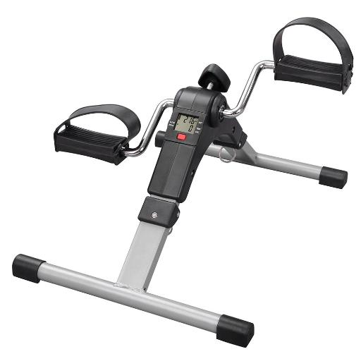 Yescom Folding Pedal Exerciser Cycle Mini Bike Leg Arm Trainer under Desk Electronic Display Fitness Gym Home