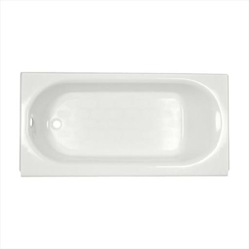 American Standard 2390202ICH.020 PrincetonAmericast Bath Tub with Integral Chrome Tub Drain and Right Hand Outlet - White