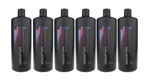 97b2353e7473 Sebastian Color Ignite Multi Tone Shampoo 33.8oz 1 Liter New (Pack Of 6)
