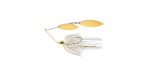 War eagle spinner baits we gld dbl wil spinnerbait wht gld we12gw01g