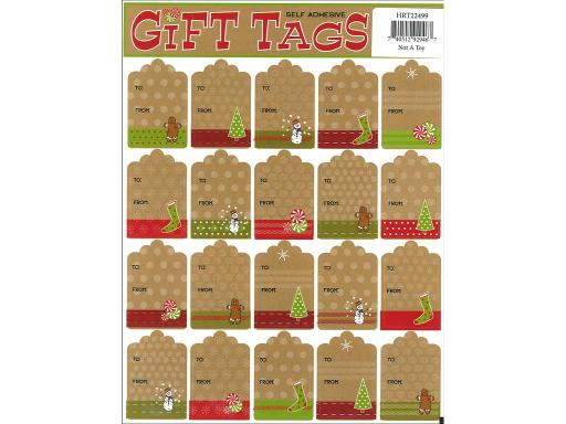 Hrt22499 heartnotes sticker xmas tags craft string Heartnotes Stickers are great for collecting invitations stationery gift wrapping parties scrapbooking and much more Christmas Tags Craft String- Multiple gift tag stickers with To and From captions Designs include gingerbread men trees stockings