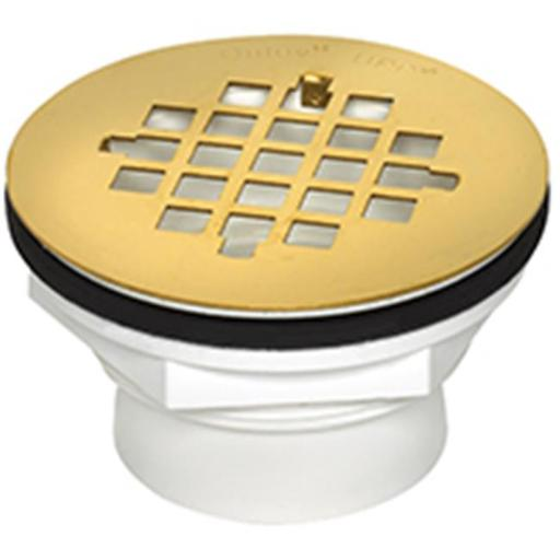 Oatey 42078 Shower Drain With Brass Cover 2 In.