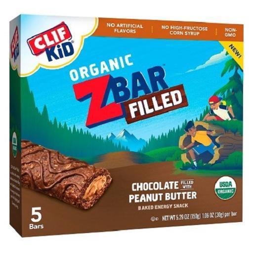 Clif Kid Organic Z Bar Filled Chocolate Peanut Butter