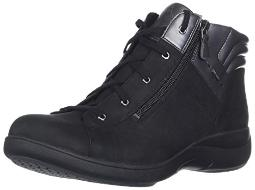Aravon Women's REV STRIDARC Waterproof Low Boot Ankle, Black 7.5 2E US
