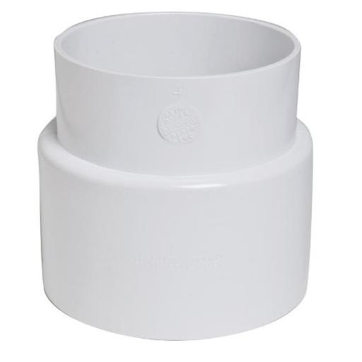 Plastic Trends P704 PVC Cast Iron Hub Adapter 4 in.
