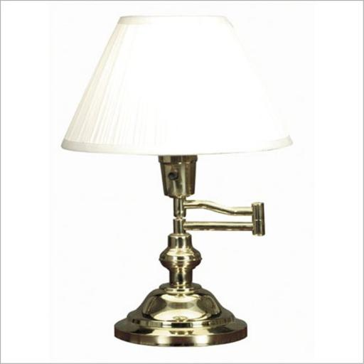 Classic Swing Arm Desk Lamp- Polished Brass Finish