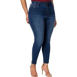 Celebrity Pink Womens Plus Super Slimmer Skinny Medium Wash Ankle Jeans