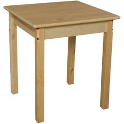 Wood Designs 82426 24 in. Square Hardwood Table With 26 in. Legs