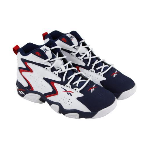 048682c297ff Reebok Mobius Og Mu Mens Blue White Leather Athletic Basketball Shoes