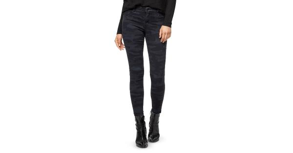 Sanctuary Denim Womens Social Standard Denim Camo Skinny Jeans