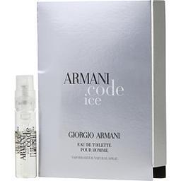 Armani Code Ice By Giorgio Armani , Edt Spray Vial On Card