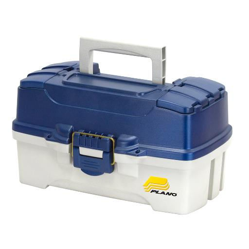 PLANO 2 TRAY TACKLE BOX WITH DUAL TOP ACCESS