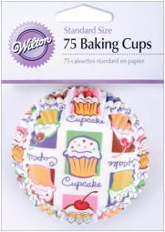 Standard Baking Cups-Cupcake Heaven 75/Pkg W422