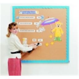 Best-Rite Bulletin Board - 4 H x 8 W Ft. - Aluminum Frame, Valu-Tak Natural Cork