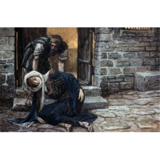 Posterazzi SAL999200 The Levite Findeth His Dead Wife James Tissot 1836-1902 French Jewish Museum New York City Poster Print - 18 x 24 in.