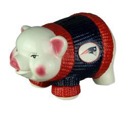 Adorable Ceramic New England Patriots Winter Sweater Piggy Bank