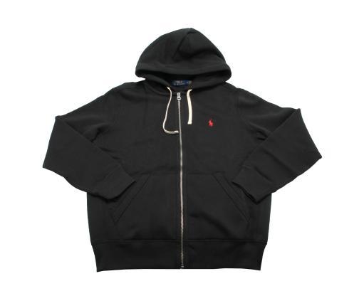 Polo Ralph Lauren Classic Full-Zip Black Men's Fleece Hoodie 710548546003