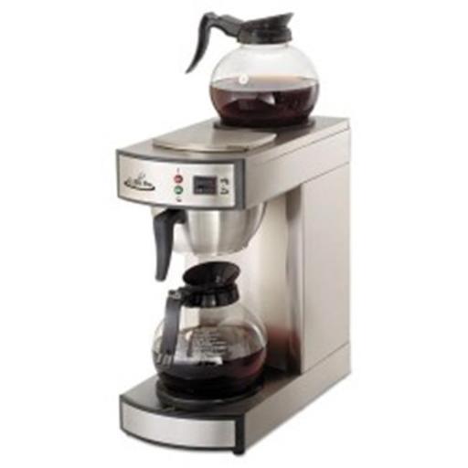 Original Gourmet Food CPRLG2 8.75 x 14.75 x 15.25 Two-Burner Institutional Coffeemaker 0.83 Cup Stainless Steel