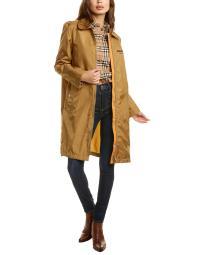 Burberry Long Applique Canvas Coat