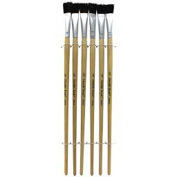 Pacon corporation 12 pk black bristle easel brush 5936bn