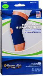 Sport Aid Neoprene Slip-On Knee Support XL - 1 ea., Pack of 3