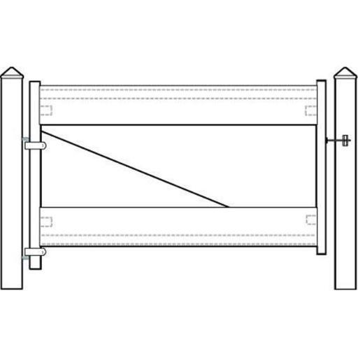 Adjust-A-Gate II Ranch 2 Rail Fence Gate Frame-AG22006