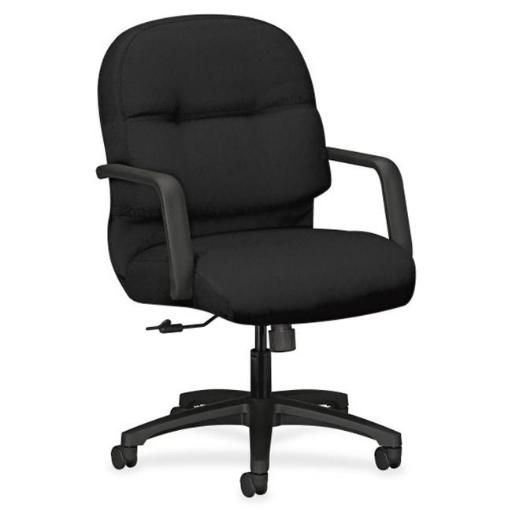 The HON HON2092CU10T Managerial Mid-Back Office Chair with Arms, Black