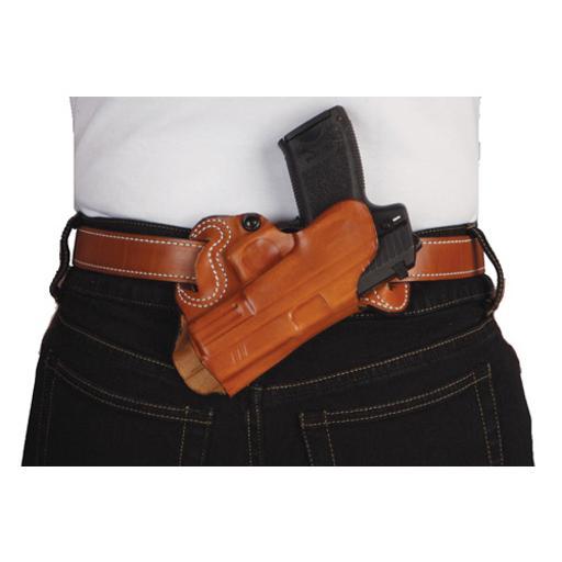 Desantis 067tan7z0 desantis small of back holster rh owb leather glock 2021 tan