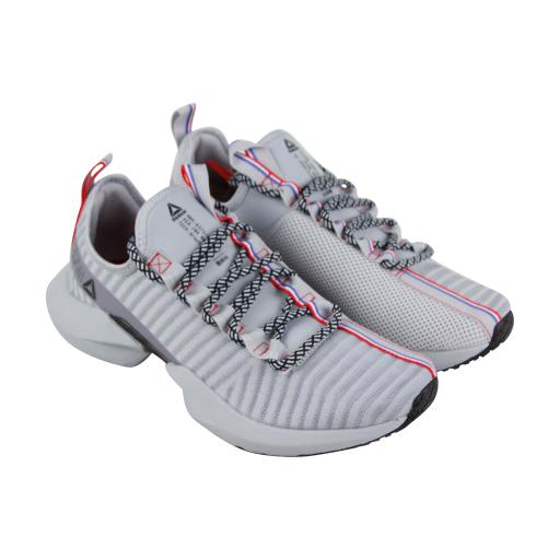 f8356c9e11f9 Reebok Sole Fury Se Mens Gray Textile   Mesh Athletic Lace Up Running Shoes