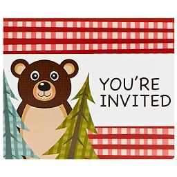Let'S Go Camping Invitations